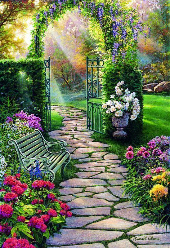 Beautiful House Garden Photo: Peintures Russell Cobane